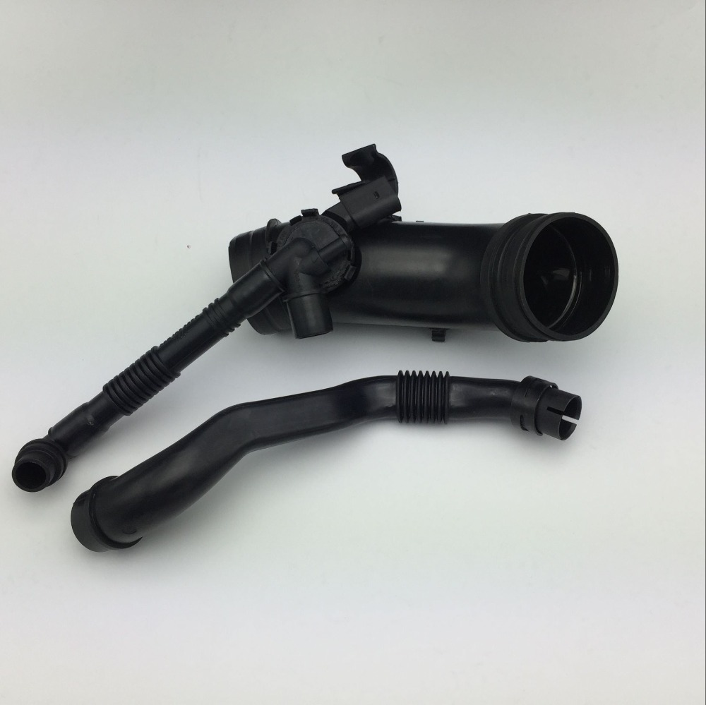 2 Pieces for VW Passat B5 2.0 Crankcase Breather Pipe Hose 06B 103 217 M 06B 133 354 P