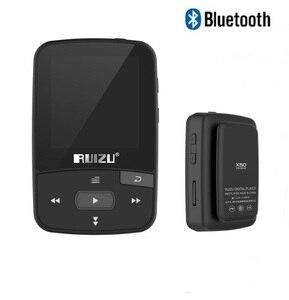 Image 2 - מקורי RUIZU X50 ספורט Bluetooth MP4 נגן 8GB קליפ מיני מוסיקה MP4with מסך תמיכת FM, הקלטה, ספר אלקטרוני, שעון, מד צעדים