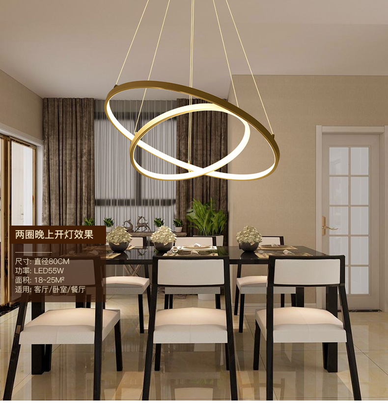 Personality Chandeliers Circular Ring Chandelier lamp Acrylic LED Lights round fixtures for living room bedroom lampPersonality Chandeliers Circular Ring Chandelier lamp Acrylic LED Lights round fixtures for living room bedroom lamp
