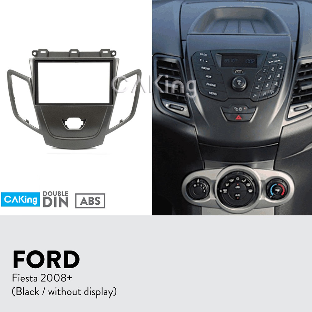 2DIN Car Fascia Radio Panel For FORD Fiesta 2008-2017 Audio Frame Dash Fitting Kit Install Facia Face Plate Bezel Console