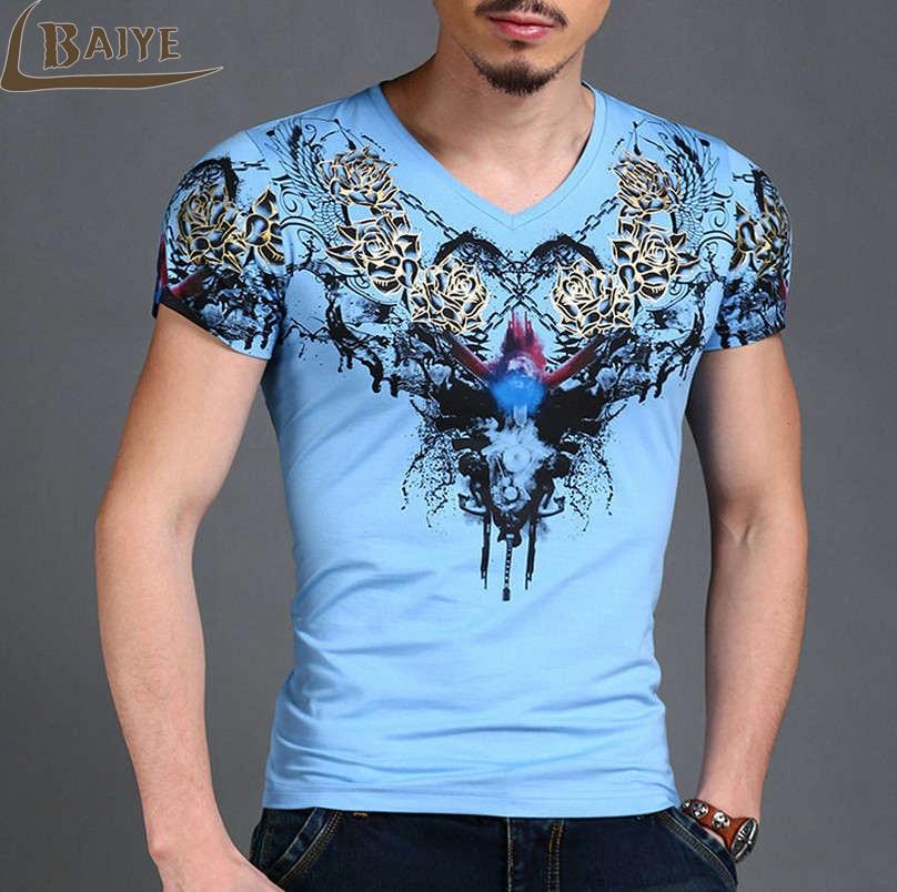 TBAIYE Moda de lujo Nueva camiseta ocasional de algodón Hombres - Ropa de hombre - foto 2