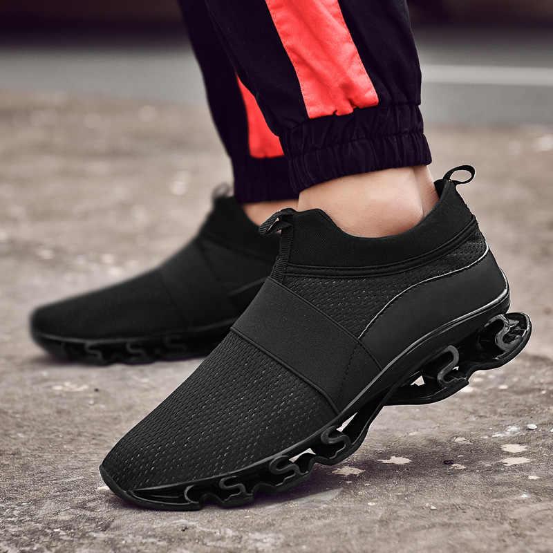 Модная обувь Для мужчин слипоны повседневные туфли на плоской подошве Лоферы Для мужчин кроссовки мужская обувь Обувь с дышащей сеткой обувь для Для мужчин плюс Размеры 47 осень