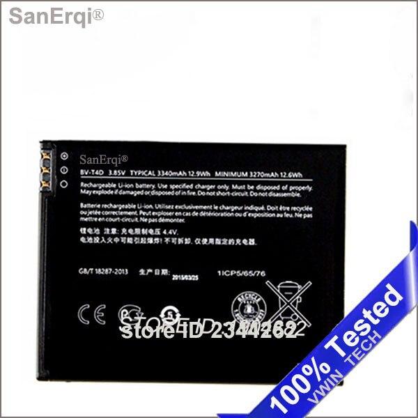 Sanerqi Замена Батарея bv-t4d для Nokia <font><b>Lumia</b></font> <font><b>950</b></font> XL cityman <font><b>Lumia</b></font> 940 XL rm-1118 3340 мАч Батарея