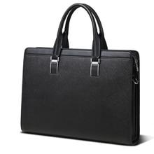 New Designer Men Briefcase Leather Men Bags Business Men Mes
