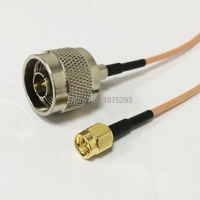 RF Wifi Antenna Extension Cable RP SMA Male with male pin Switch N Male Pigtail RG316 15m
