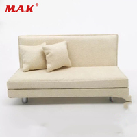 1/12 Scale Action Figure Iron Man Accessory White Sofa Model with Two Pillows for MK42 MK43 Iron Man Figure