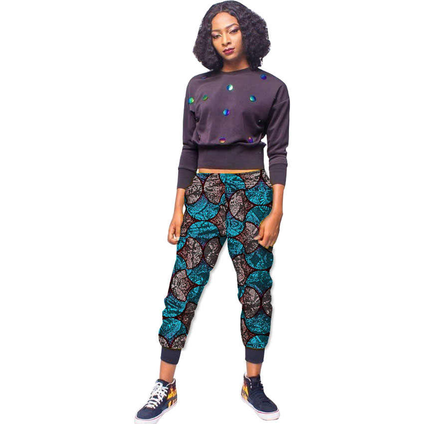 c0e0f170556 Women African Trousers Fashion Print Haren Pants Ladies Ankle-Length Pants  Customized Ankara Pants Street