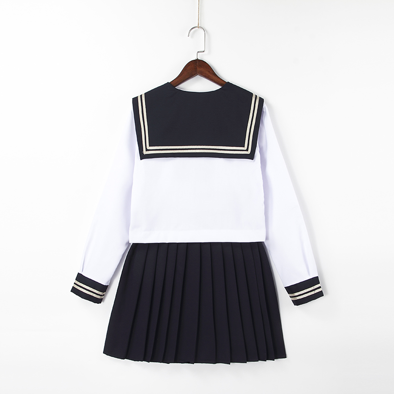 New sweet wear High quality sailor suit students school uniform for teens preppy style uniform JK fashion School Uniform Sets in School Uniforms from Novelty Special Use