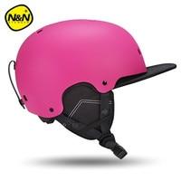 Nandn Brand EPS PC Ski Helmets Men Women Warm Protective Sports Skating Skateboard Skiing Integrally Molded