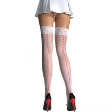 Nurse Heart Fashion Socks Sexy Women Girl Thigh High Over the Knee Socks Cotton Stockings Stockings Sexy lace