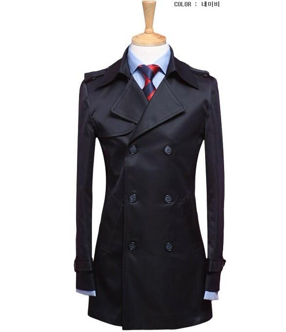 스파이크! 캐주얼 자켓 트렌치 남성 남성 코트 재킷 남성 캐주얼 자켓 트렌치 슬림 블랙 남성 슬림 트렌치 코트 2XL 3XL