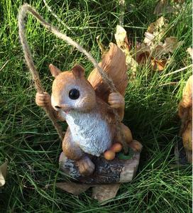 Image 2 - 50% off,Swing Squirrel Garden Decoration Villa Courtyard Kindergarten Estate Shop Ornaments Simulation Animal Micro Landscape