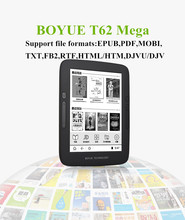 New original BOYUE T62Mega ebook 300ppi 1448*1027 touch screen online ereader 8GB WiFi  gift cover free shipping