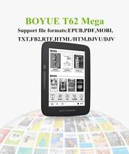 Nueva original T62Mega BOYUE ebook ereader 300ppi 1448*1027 línea de la pantalla táctil 8 GB WiFi cubierta de regalos envío gratis