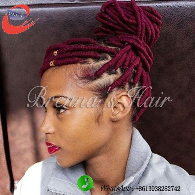 14 18 Belle faux locs tresse cheveux faux serrures crochet tresses cheveux