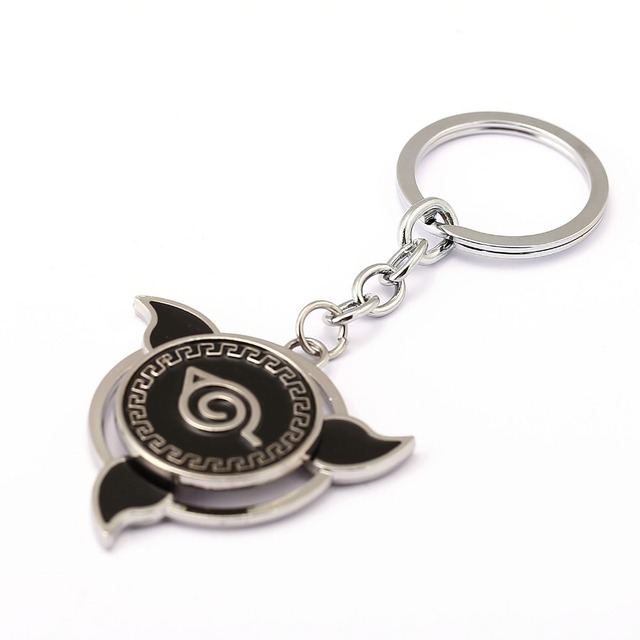 MS Jewelry NARUTO Keychain Wing Rotatable Key Rings Holder For Gift Chaveiro Car Key Chain Anime Souvenir