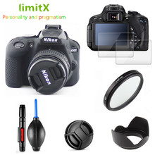 Volledige Beschermen Kit Screen Protector Camera case tas UV Filter Lens hood Cap pen Blower voor Nikon D3400 met AF P 18 55mm lens