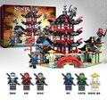 Игрушки для детей  набор моделей ниндзя-храма  Обучающие сборные строительные блоки для мальчиков  игрушки для детей  подарок на день рожден...