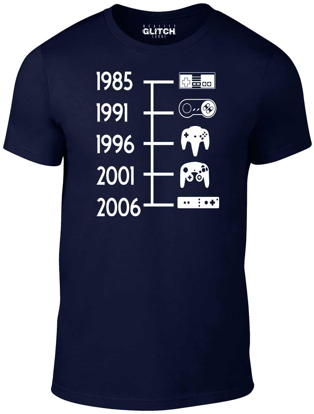 Glitch Mens Game Controller Timeline T-Shirt  New T Shirts Funny Tops Tee Unisex