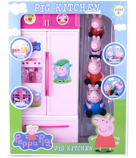 pig kitchen table for 8 peppa house family kids toys set children s play free shipping kt077
