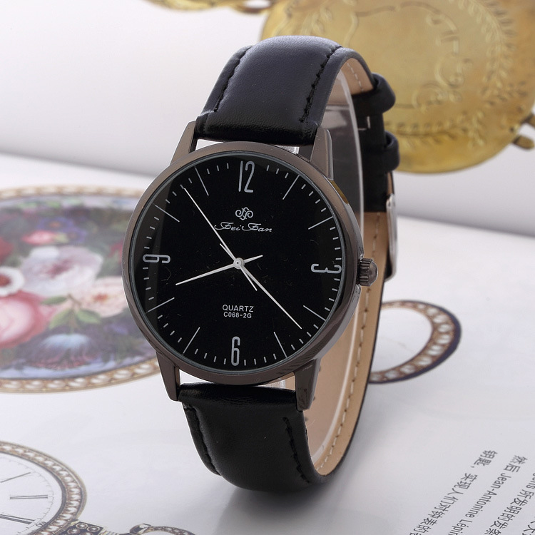 aliexpress com buy fei fan men women watches simple slim aliexpress com buy fei fan men women watches simple slim leather strap luxury brand watch quartz analog brown black white relogio feminino from reliable