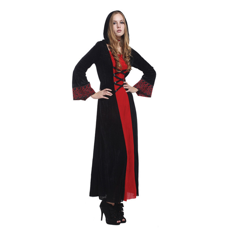 Christmas Carnival halloween costumes for women plus size sexy adult Masquerade Party Fancy Dress Cosplay scary witch vampire