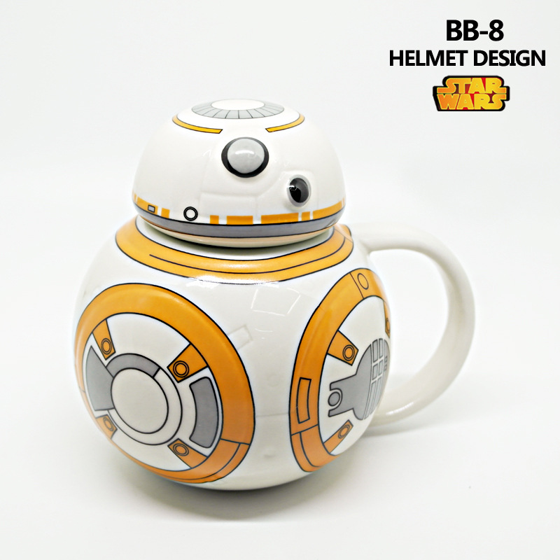 STAR WARS Ceramic Mug BB - 8 robot cup with cover Creative ceramic coffee cup