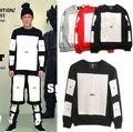 2016 Famous HBA Hood By Air Men's Long Sleeve t-shirt Men Hip Hop HBA Tee Shirts Man Rap Plus Size Clothing