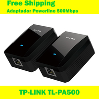 Free Shipping TP LINK TL PA500 500Mbps Powerline Adapter Cat Power Two Combination For Wireless Wifi