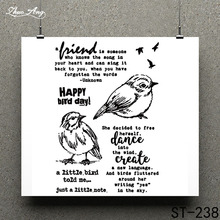 ZhuoAng Happy bird Clear Stamp for Scrapbooking Rubber Seal Paper Craft Stamps Card Making
