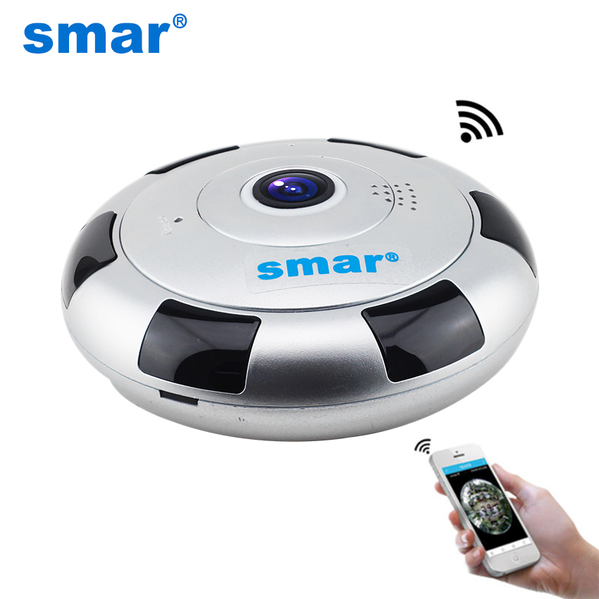 Mini VR IP Camera Wireless 960P HD Smart 360 Degree Panoramic Network CCTV Security Camera Home Protection Video Surveillance insta360 air 3k hd 360 camera dual lens panoramic camera compact mini vr camera for samsung oppo huawei lg andriod smartphone