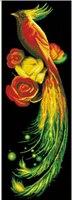 5d Diy Diamond Painting Crystal Golden Phoenix Diamond Embroidery Animals Birds Cross Stitch Picture Rhinestones Home