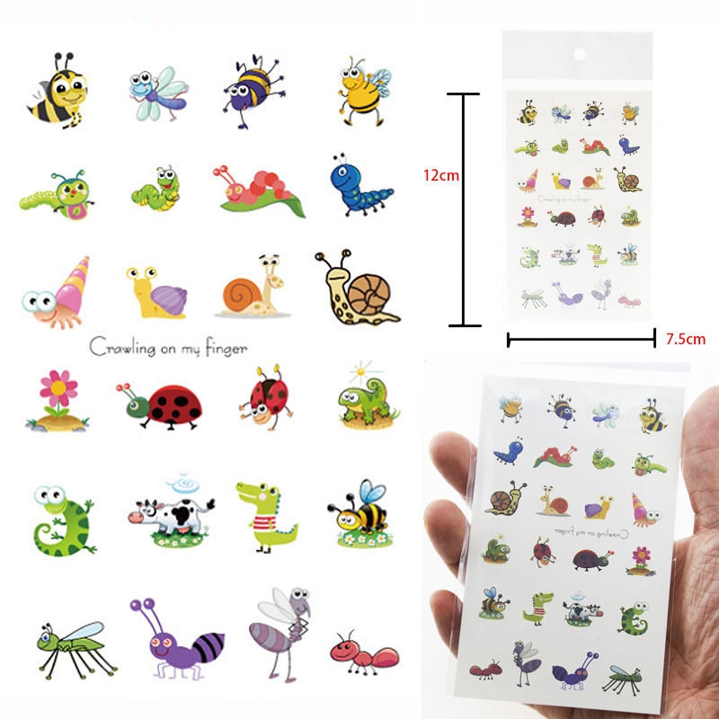 Boys And Girls Children Cartoon Animals Children Temporary Tattoo Sticker Waterproof Fashion Arm Finger Neck Tattoo
