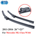 OGE Pair Windscreen Wiper Blades For Mercedes ML Class W166 2011-2016 Pair Windshield Silicone Rubber Auto Car accessories