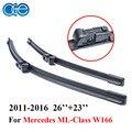 Oge par pára wiper blades para mercedes classe ml w166 2011-2016 par windshield borracha de silicone auto acessórios do carro