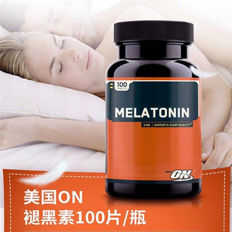 A melatonina ideal da importação americana aumenta o sono 100 pces 1 garrafas