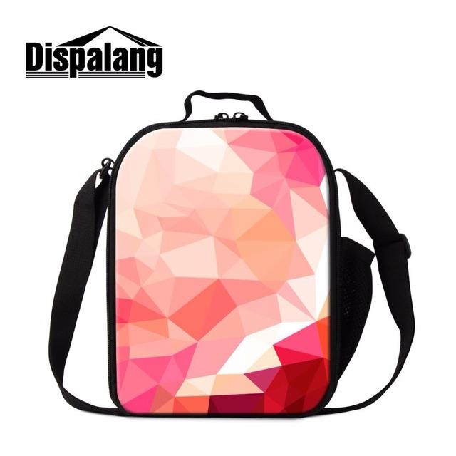 Dispalang portable diamond lattice shoulder insulated zipper lunch bags for women thermal lunch box cooler lunch bag picnic bag