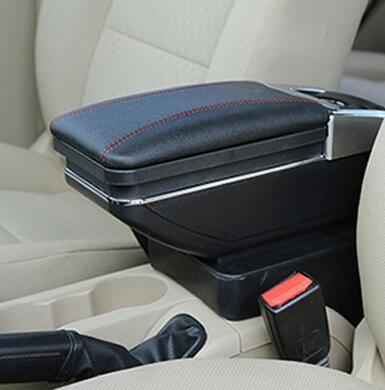 Boîte de contenu de magasin central en cuir de style de voiture avec pour KIA K2 RIO 2012-2015 accoudoir PU bâches de voiture livraison gratuite