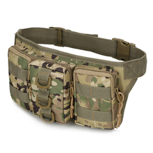 Men Casual Fanny Waist Pack Durable High quality Mountaineering Sport Waist Bag Belt New tactical Bag Military Pouch Four Pocket