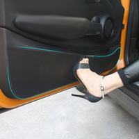 Кожаный защитный коврик для внутренней двери автомобиля антиударная площадка наклейка для Mini Cooper R56 R60 F54 Clubman F55 F56 F60 Countryman