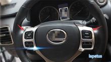 interior For LEXUS NX NX200T NX300T 2015 2016 2017 ABS Chrome Steering Wheel Molding Garnish Cover Trim 2 pcs