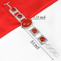2013 Hot Sell Handmade Friendship Bracelets Shiny Orange Amber Bracelet B0020