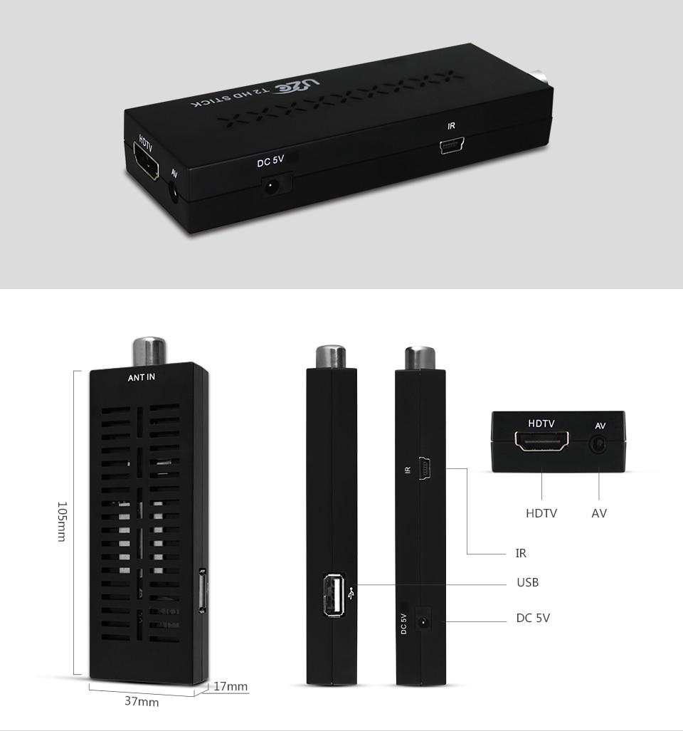 Mini DVBT2 TV qəbuledicisi DVB-T2 TV Stik Dəstək MP3 MPEG4 Format - Evdə audio və video - Fotoqrafiya 4