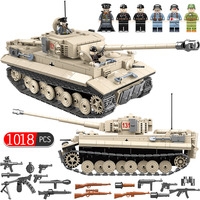 1018pcs Military German King Tiger 131 Tank Building Blocks Compatible Legoed Army WW2 Soldier Weapon Bricks Toys for Children