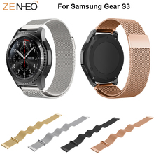 Magnetic buckle Milanese Loop strap For Samsung Galaxy 46mm watchbands 22mm Wrist bands Bracelet for S3 Frontier/Classic
