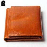2016 New Luxury Women Wallets Man Genuine Leather Purse Oil Leather Male Wallet Casual Carteira Feminina