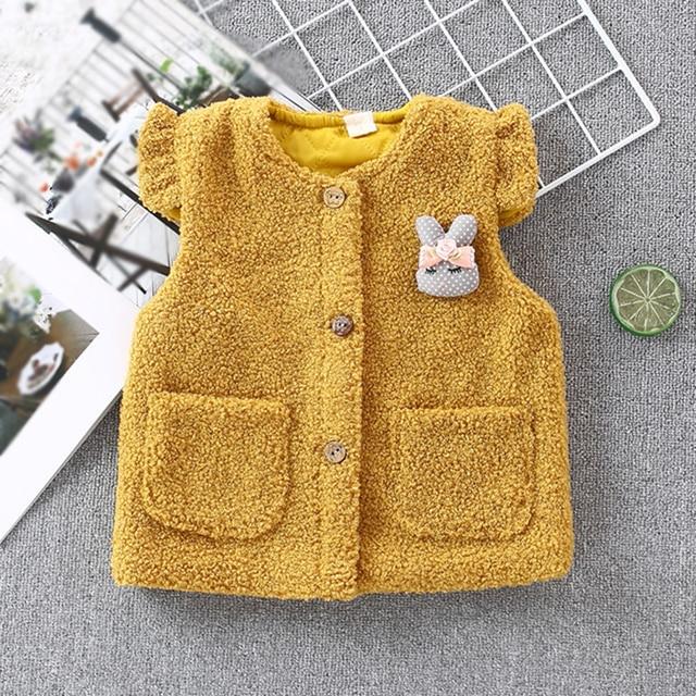 de2d8d7e6 Baby girl clothes winter baby girl vest sleeveless cute girls kids ...