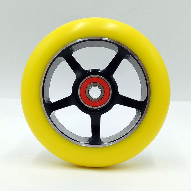 4PCS Support wholesale Stunt Scooter Wheels 100mm With Aluminum Alloy Hub High-elastic PU 608 ABEC-9 Bearings skates wheels