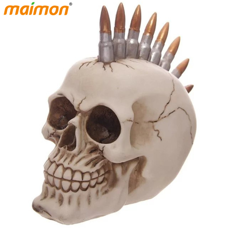 novelty resin bullets skull crafts halloween decorative 3d human skull head party decal accessorieschina - Halloween Skull Decorations