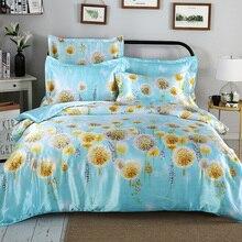 サテンシルク寝具セットキングクイーンサイズ柔らかい肌に優しい掛け布団カバーセット滑らかな夏のベッドリネンフィットシーツ